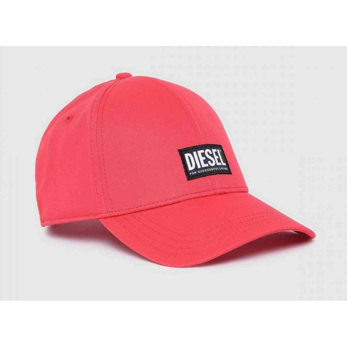 Casquette rouge homme logo - Diesel - Diesel Maroquinerie - Modalova