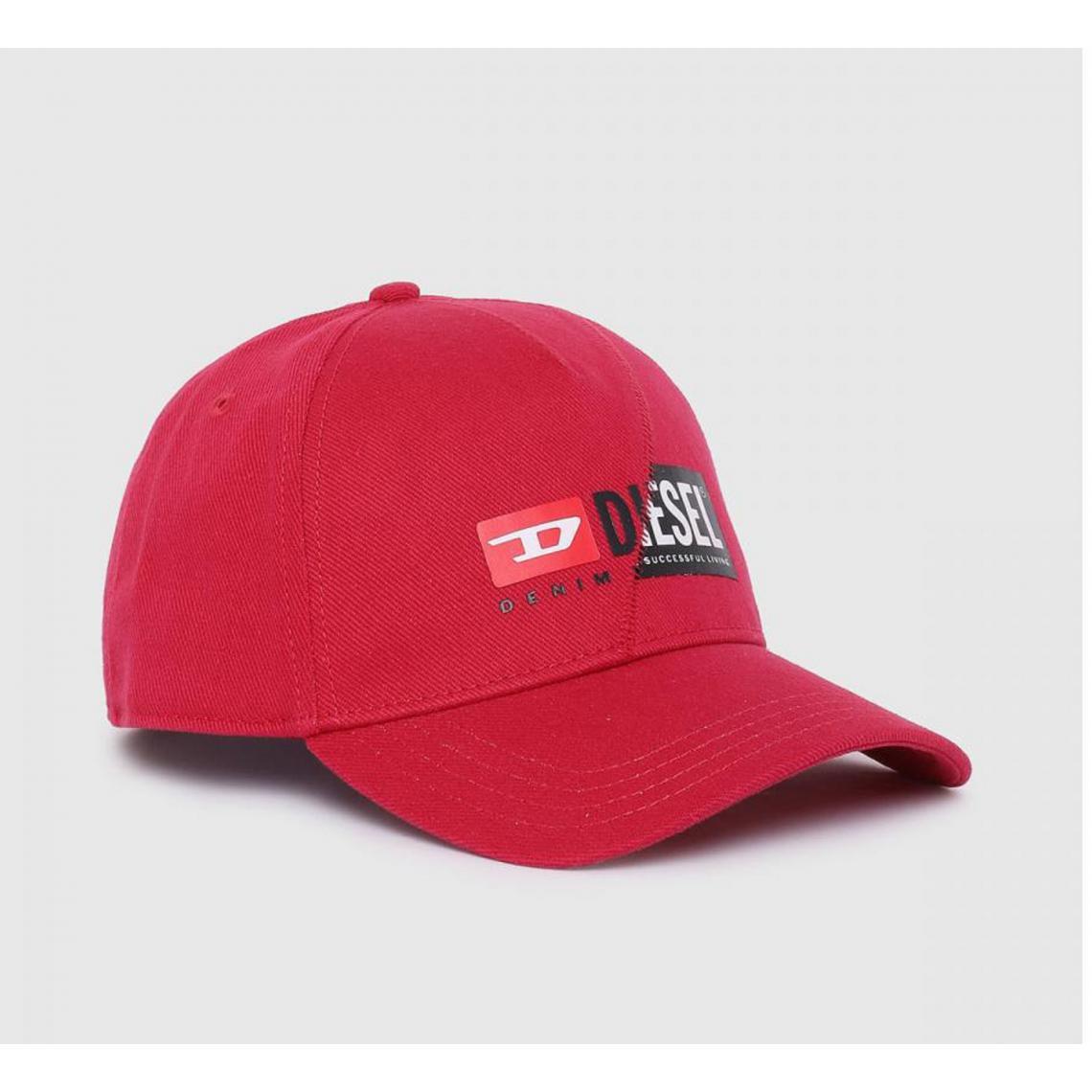 Casquette homme rouge logo - Diesel - Diesel Maroquinerie - Modalova
