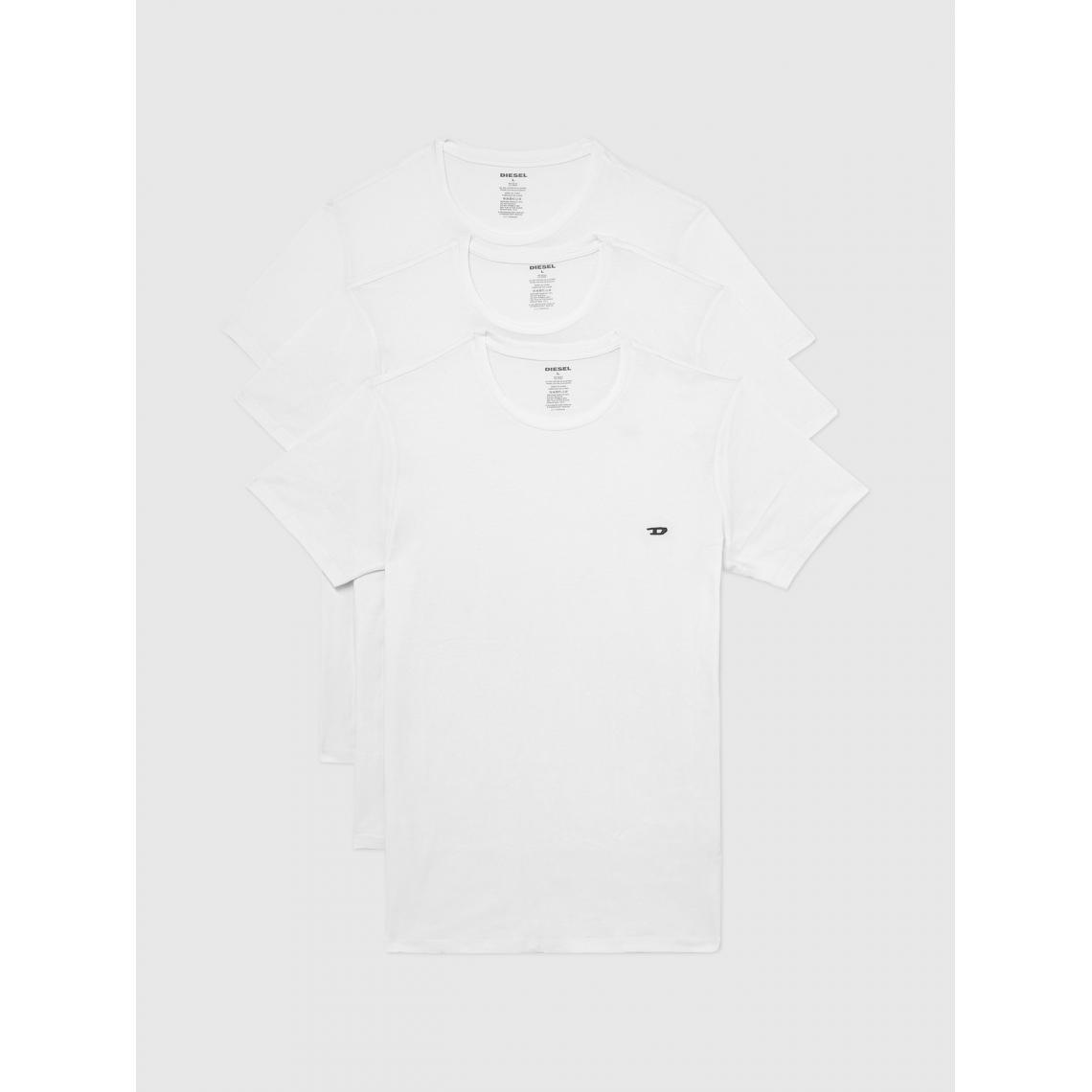 Pack de 3 t-shirts manches courtes logo D - Diesel Underwear - Modalova