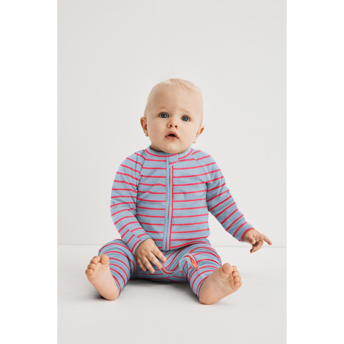 Pyjama Côtelé - D0A0G Rayé rose layette/blanc 12 mois - Modalova
