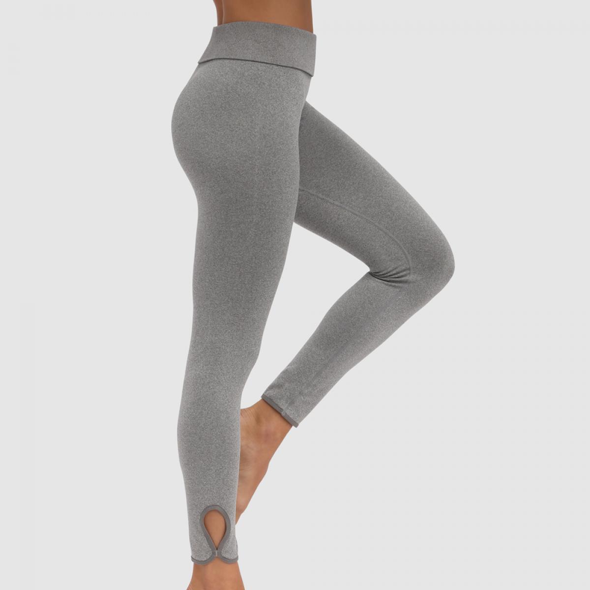 Legging de sport taille haute gris Plus de détails