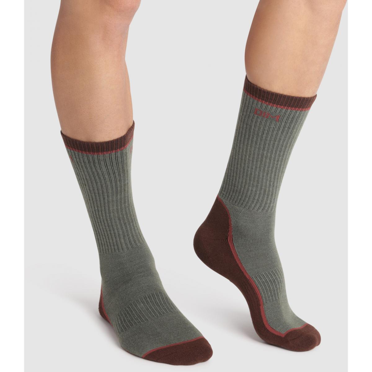 Chaussettes hautes outdoor - Vert - Dim Underwear - Modalova