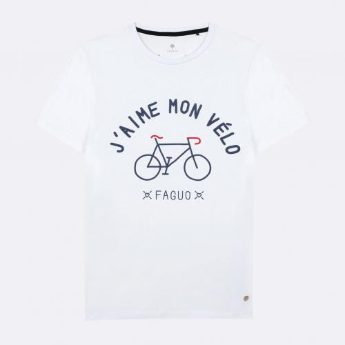 Faguo - ARCY T-SHIRT COTTON - t shirts blancs homme