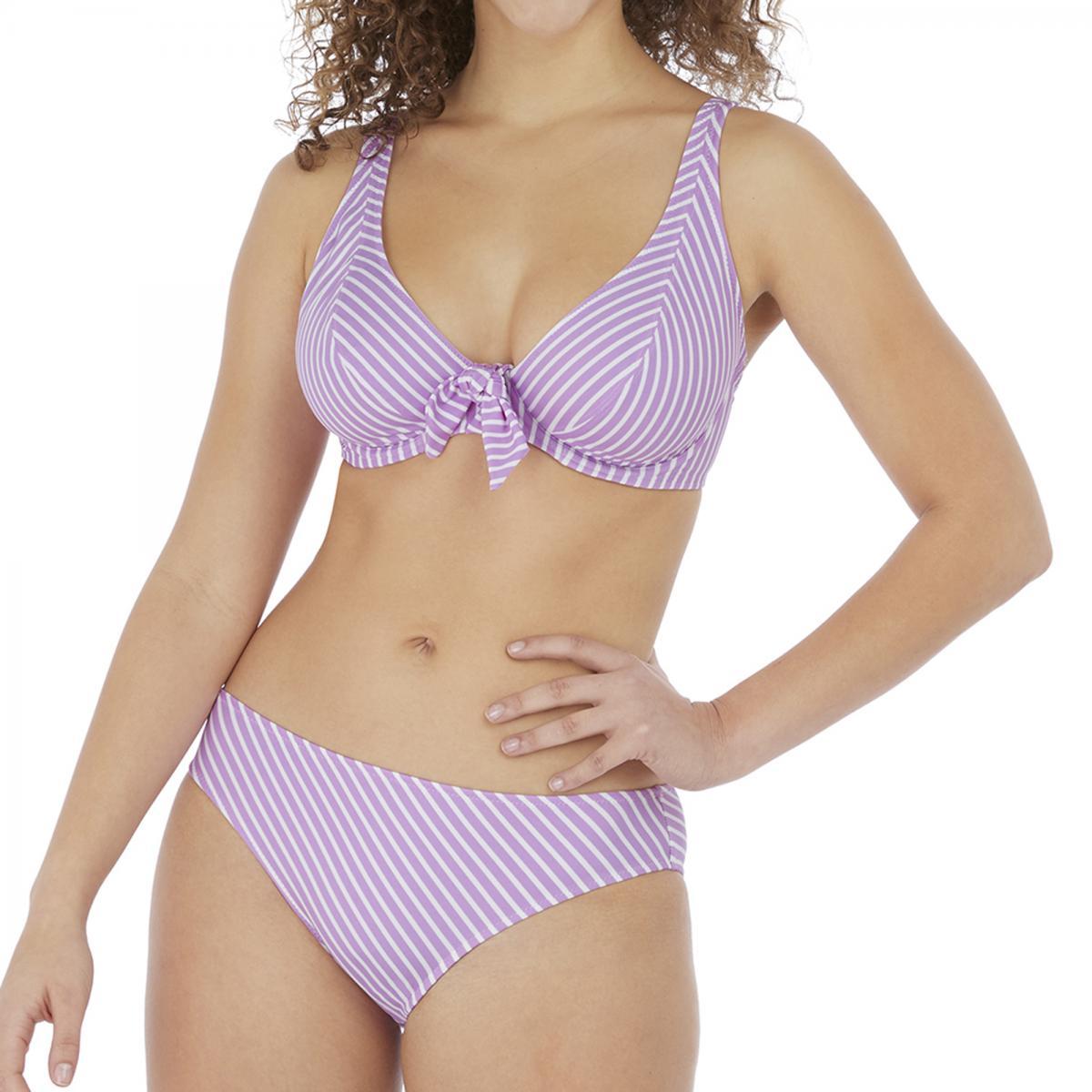 Haut de maillot de bain apex foulard armatures Violet - Freya