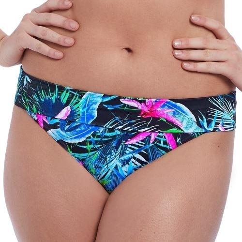 Freya maillot - Culotte de bikini taille ajustable Freya Maillots JUNGLE FLOWER black tropical - La mode