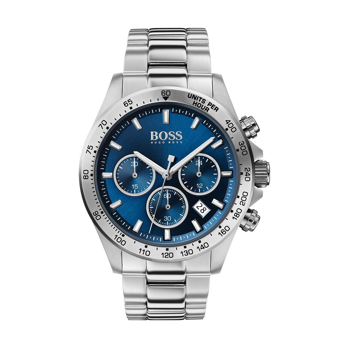 Montre 1513755 - Hero chrono Boitier acier Cadran bleu Bracelet acier é - Hugo Boss - Modalova