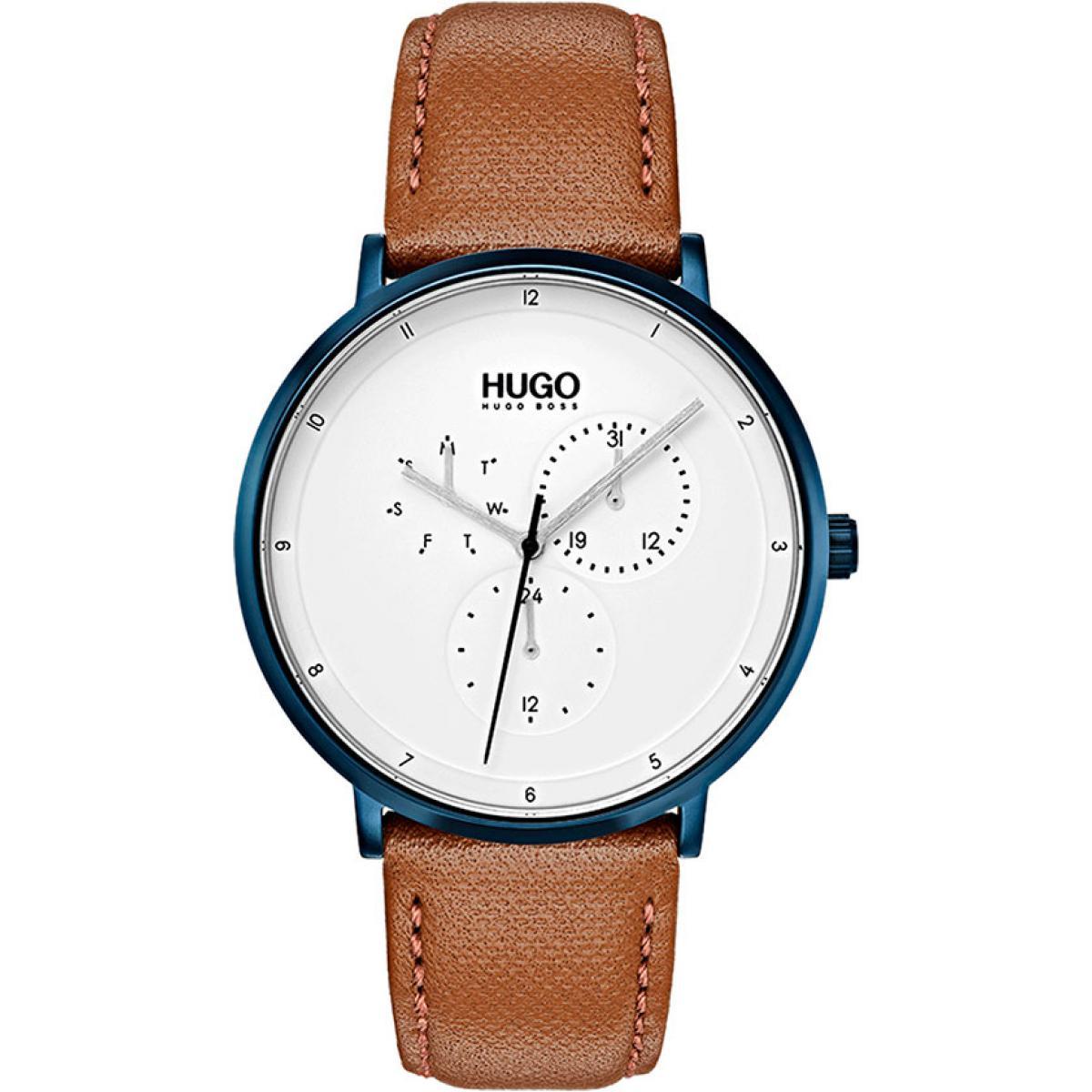Montre Hugo 1530008 - Montre Cuir Marron - 3 suisses - Modalova