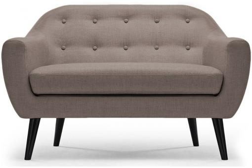 Canapé scandinave 2 places Tissu Taupe OLAF