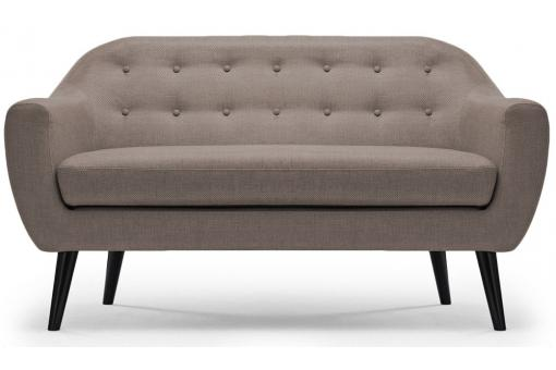 Canapé scandinave 3 places OLAF Tissu taupe