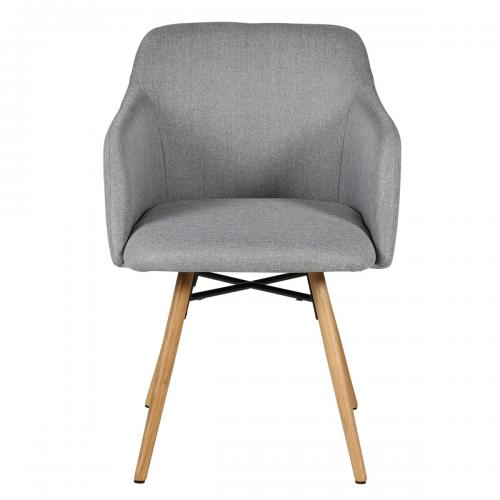 3S. x Home - Fauteuil Gris Clair MAYA - Fauteuil