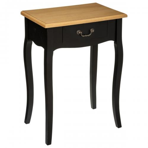 3S. x Home - Table de Chevet 1 Tiroir Noir Chrysa - Table de chevet