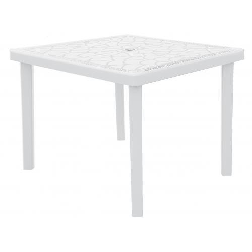 3S. x Home - Table De Jardin Carrée Gruvyer 90x90cm Blanc - 3S. x Home meuble & déco