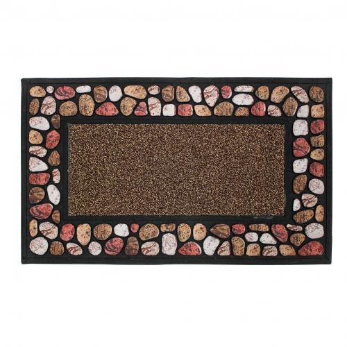 3S. x Home - Tapis Rectangle 45 x 75 cm Relief Cailloux - Tapis