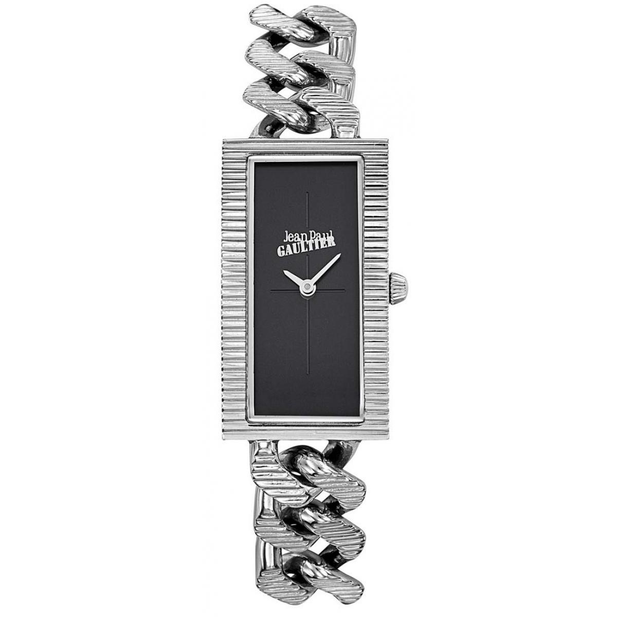 Montre Jean-Paul Gaultier 8506301 - Boîtier Acier Argenté Bracelet Acier Argenté Cadran Noir - Jean Paul Gaultier - Modalova