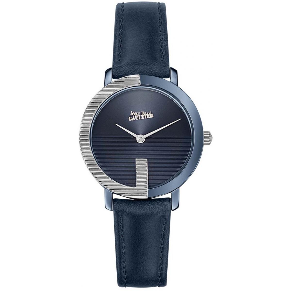Montre Jean-Paul Gaultier 8507003 - Boîtier Acier Bleu Bracelet Cuir Bleu Cadran Bleu - Jean Paul Gaultier - Modalova
