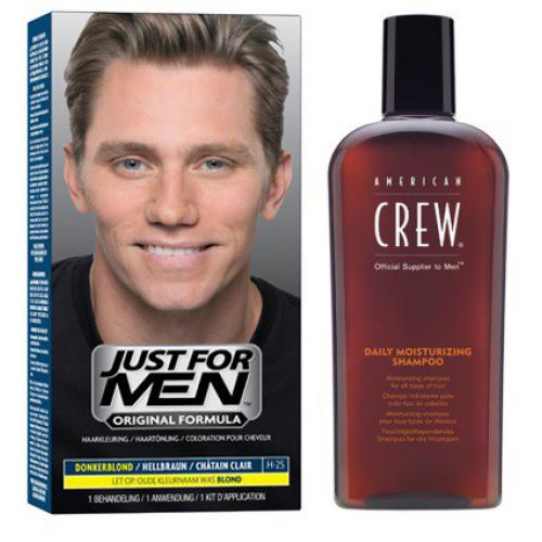 Just for Men - COLORATION CHEVEUX & SHAMPOING Châtain Clair - PACK - Coloration cheveux