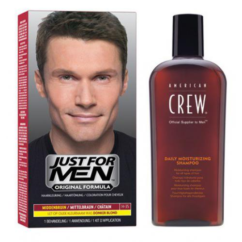 Just for Men - COLORATION CHEVEUX & SHAMPOING Châtain - PACK - Soins homme