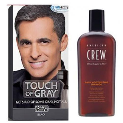 Just for Men - COLORATION CHEVEUX & SHAMPOING Gris Noir - PACK - Soins homme