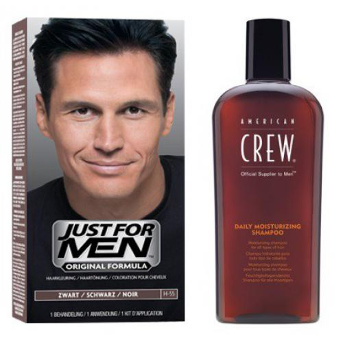 Just for Men - COLORATION CHEVEUX & SHAMPOING Noir Naturel - PACK - Soins homme