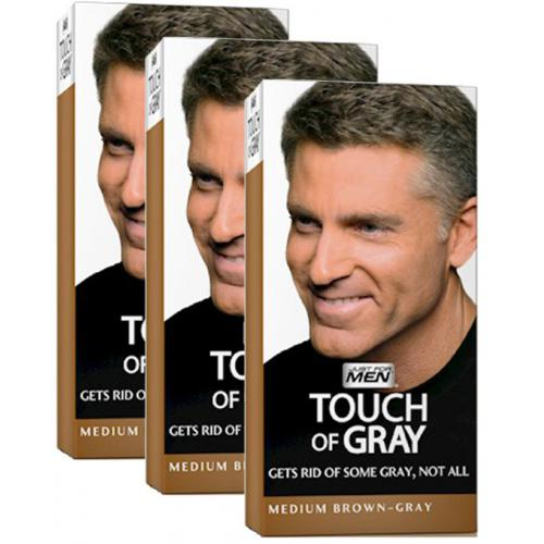 Just for Men - COLORATIONS CHEVEUX Gris Châtain - PACK 3 - Toutes les Promos