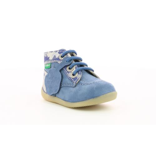 Kickers - Chaussures bébé Bleu Camouflage - Kickers chaussures