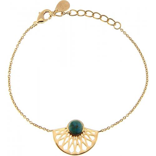 Kosma Paris - Bracelet Kosma Paris - Collection Mia Doré & Turquoise - Waxy Folie