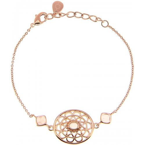 Kosma Paris - Bracelet Kosma Paris - Collection Stella Doré Rose & Quartz Rose - Bijoux femme