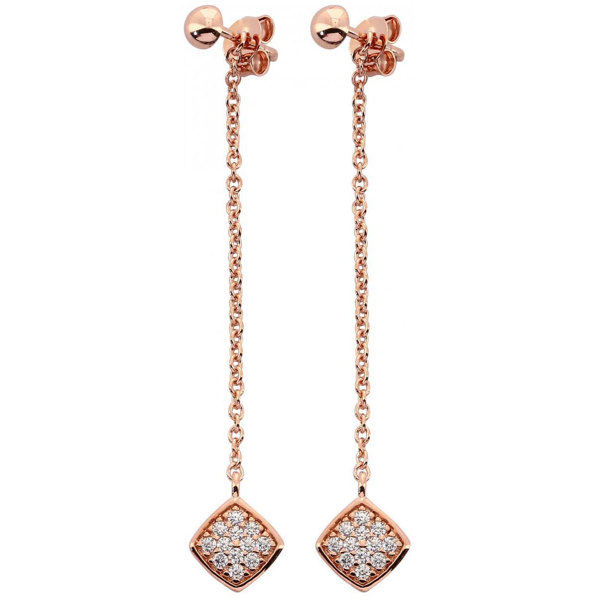 Boucles d'oreilles Kosma Paris - Collection Ella Doré Rose