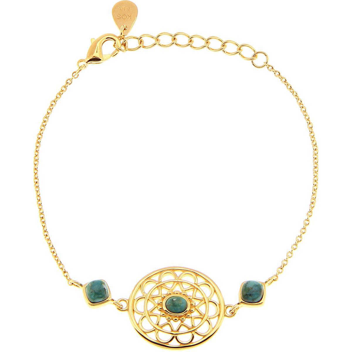Bracelet Kosma Paris - Collection Stella Doré & Turquoise