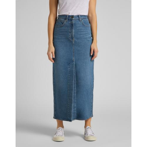 Lee - Jupe longue en denim Ultra Long Split Skirt - Mode bio