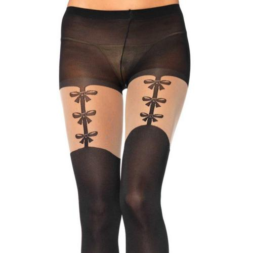 Collant Noeud Porte-Jarretelle Noir Leg Avenue