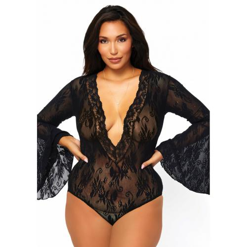 Leg Avenue - Body manches longues transparent - Leg Avenue lingerie