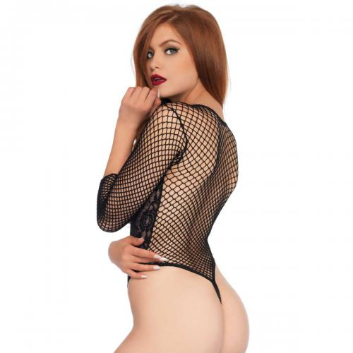 Body string manches longues noir