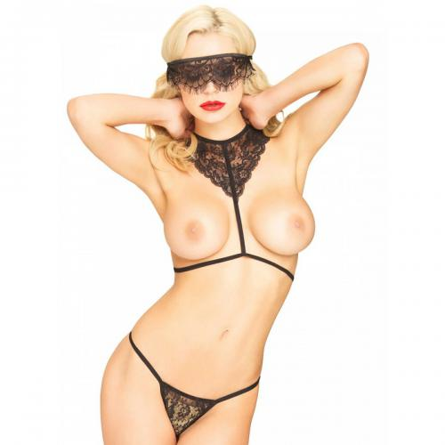 Leg Avenue - Set lingerie séduction noir - Lingerie femme