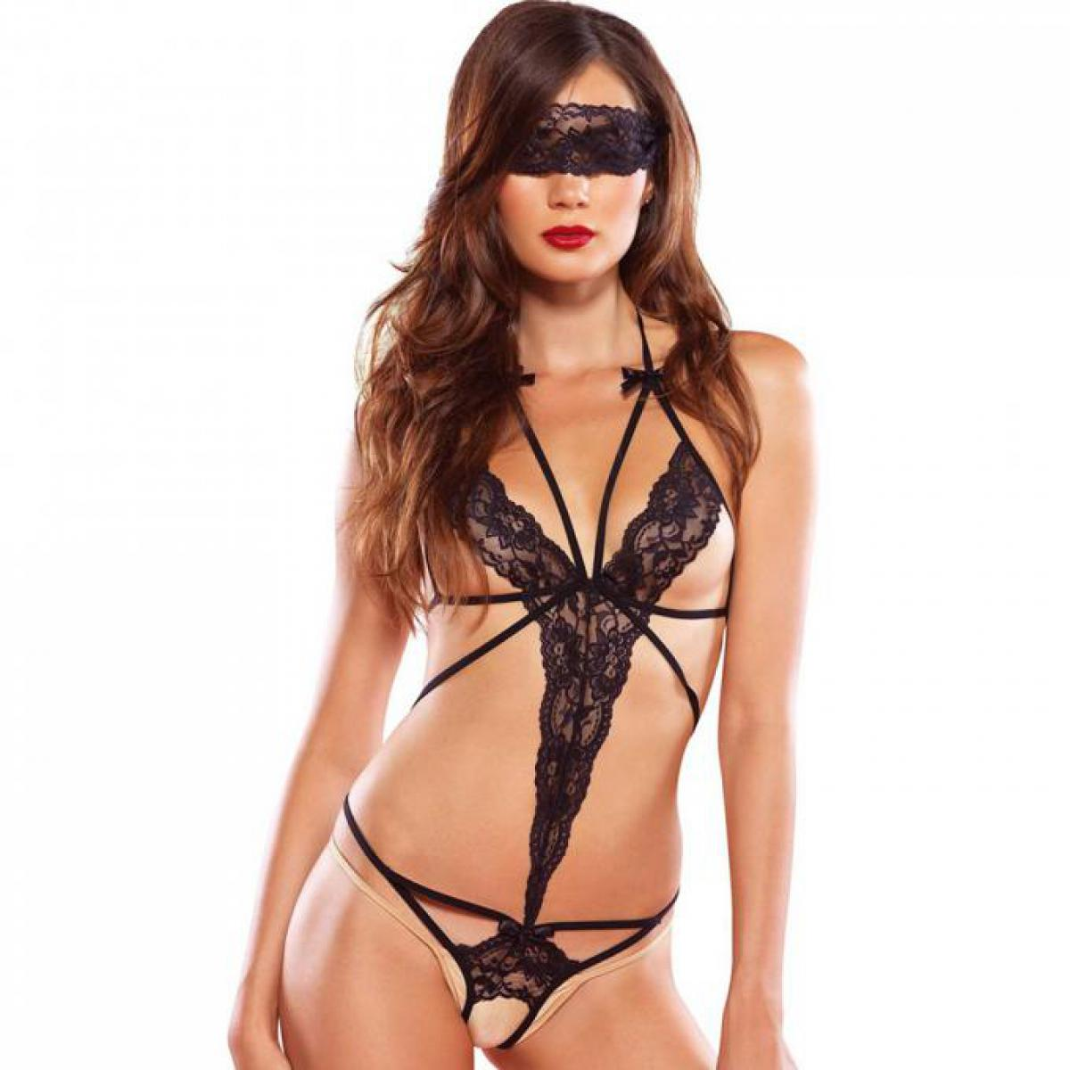 Trikini Bondage et Masque Noir