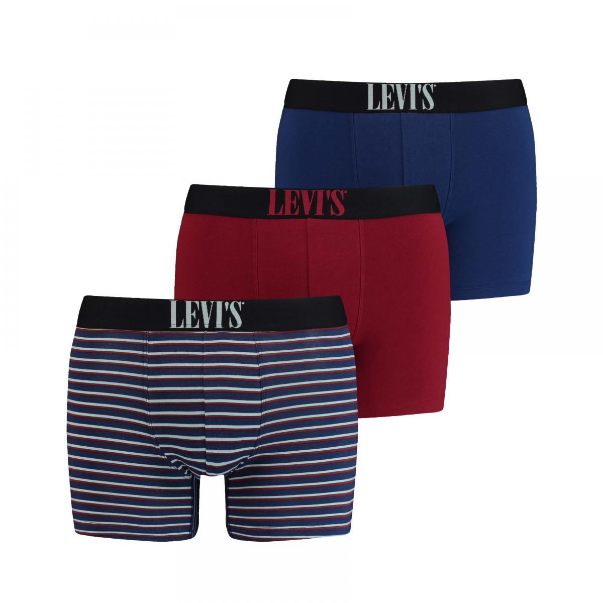 Promo : Pack de 3 boxers Bleus/rouge - Levi?s Underwear - Levi's Underwear - Modalova