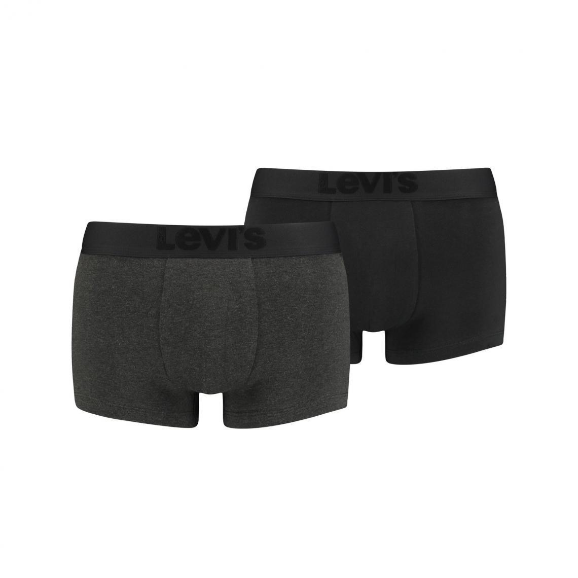 Lot de 2 boxers ceinture elastique - Noir - Levi's Underwear - Modalova