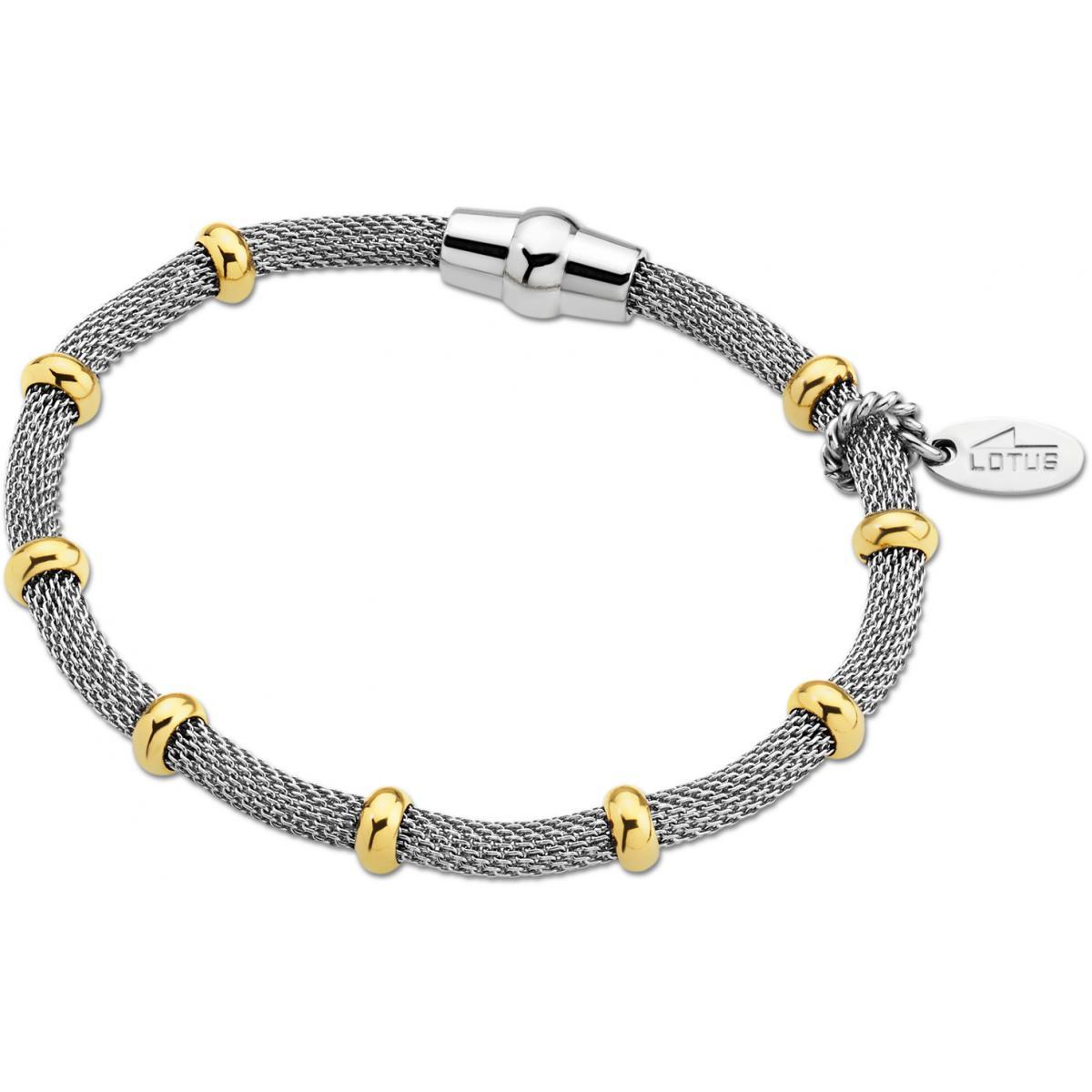 Bracelet Lotus Style LS1680-2-2 - Bracelet Maillon Bicolore Mode Femme