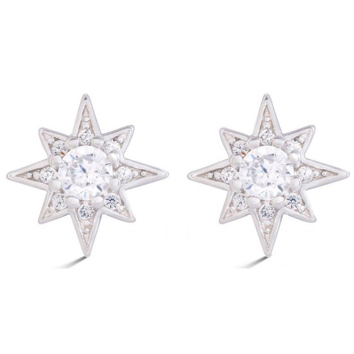 Boucles d'oreilles Luxenter EH13100 - Boucles d'oreilles MYSNIGHT Argentées Serties Femme