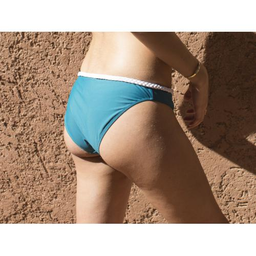 Luz Collection - Culotte de bain Constance Bleu - Luz Collection - Lingerie responsable