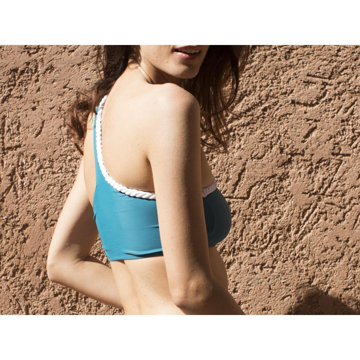 Haut de maillot de bain sans armatures Constance Bleu - Luz Collection - Modalova