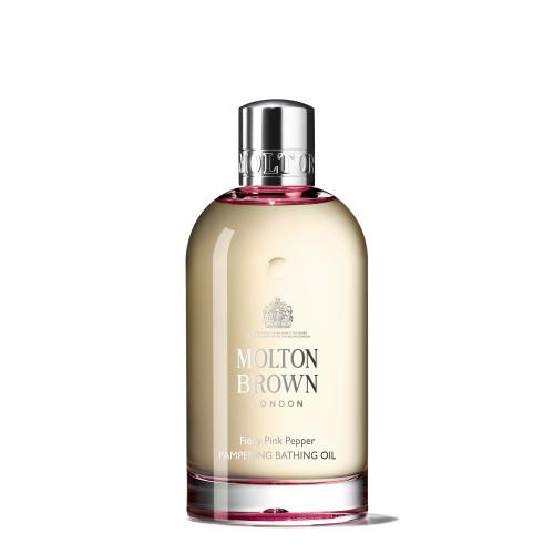 Molton Brown - HUILE DE BAIN FIERY PINK PEPPER PAMPERING-200ML - Soins corps femme