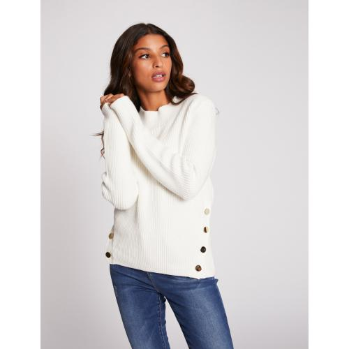 Morgan - Pull manches longues avec boutons - C 6254397 pulls col rond femme.htm