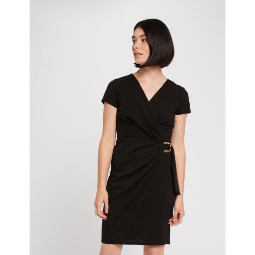 Morgan - Robe droite effet portefeuille - Robe femme