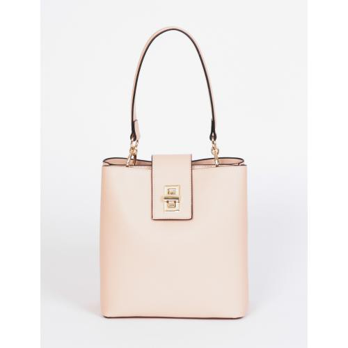 Morgan - Sac seau avec fermoir tourniquet - Belle en pastel