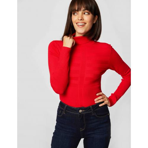 Morgan - Pull manches longues col roulé - Pull col roule femme