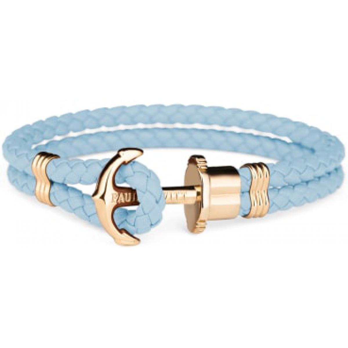Bracelet Paul Hewitt PH-PH-L-G-NI - Bracelet Ancre Acier IP Doré / Cuir Niagara - Paul Hewitt Bijoux - Modalova