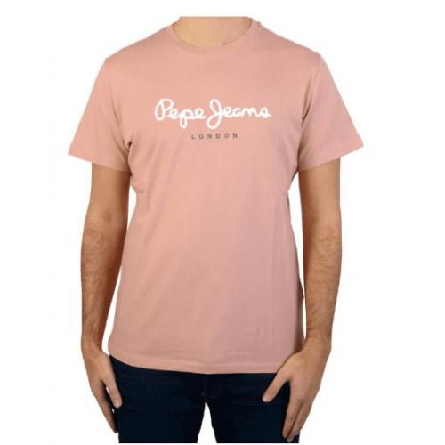 Pepe Jeans - Tee-shirt manches courtes rose homme Pepe Jeans - T-shirt / Polo