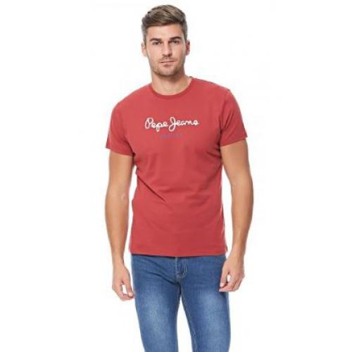 Pepe Jeans - Tee-shirt manches courtes rouge homme Pepe Jeans - T-shirt / Polo
