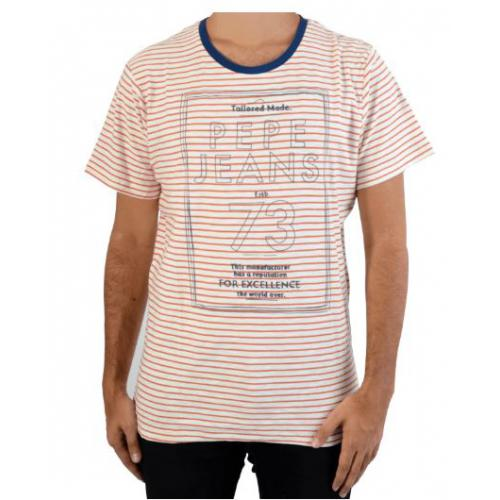 Pepe Jeans - Tee-shirt à rayures manches courtes Pepe Jeans homme - Vêtements homme